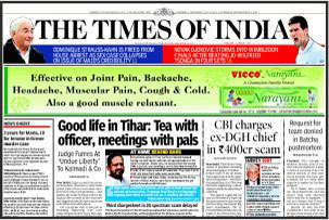 Times of India Advertisement Rates