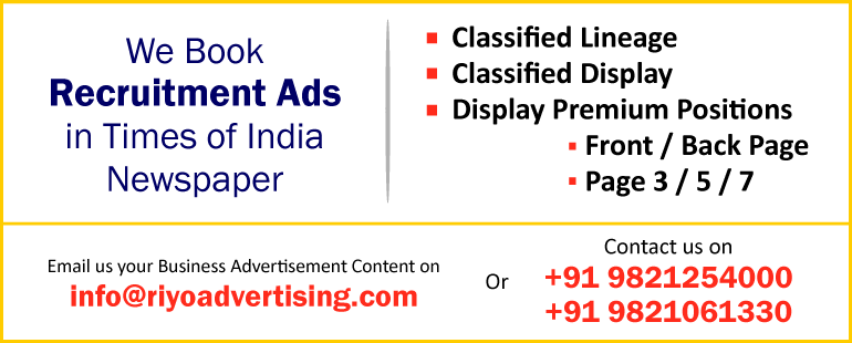 View Times Classified Recruitment Ad Rates 2016-2017